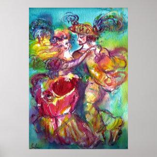 CARNIVAL DANCE Venetian Masquerade Ball Poster
