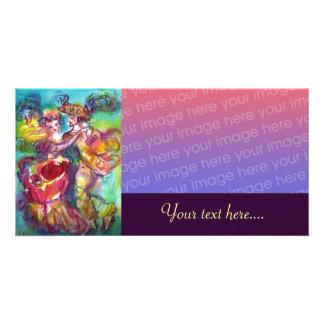 CARNIVAL DANCE Venetian Masquerade Ball, purple Card