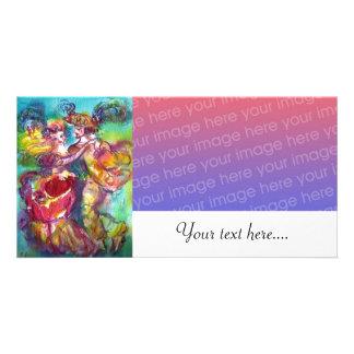 CARNIVAL DANCE Venetian Masquerade Ball ,white Card