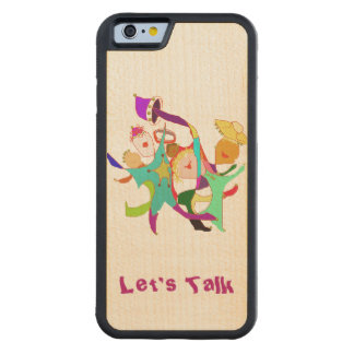 Carnival Dancers on Purple Carved Maple iPhone 6 Bumper Case