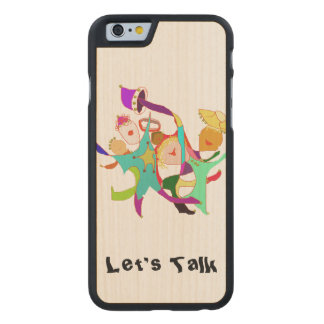 Carnival Dancers on Purple Carved Maple iPhone 6 Case