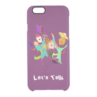Carnival Dancers on Purple Clear iPhone 6/6S Case