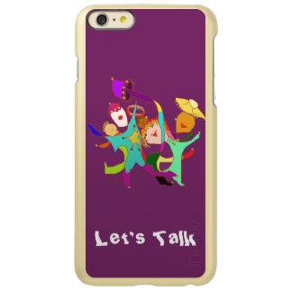 Carnival Dancers on Purple Incipio Feather Shine iPhone 6 Plus Case