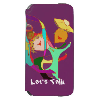 Carnival Dancers on Purple iPhone 6/6s Wallet Case