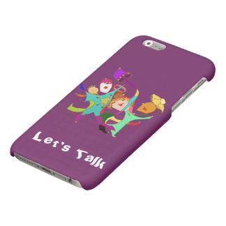 Carnival Dancers on Purple Matte iPhone 6 Case