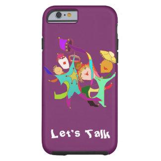 Carnival Dancers on Purple Tough iPhone 6 Case