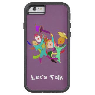 Carnival Dancers on Purple Tough Xtreme iPhone 6 Case