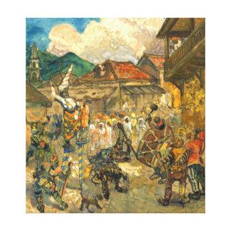 Carnival Domincia 1919 Canvas Print