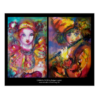 CARNIVAL FACES,colossal Poster