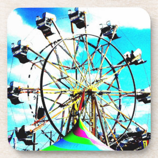 Carnival Fair Ferris Wheel Ride Abstract Art Photo Drink Coasters