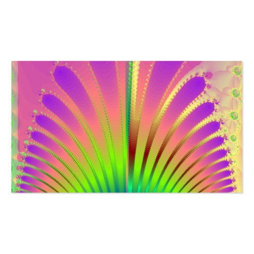 Carnival Feathers Business Cards