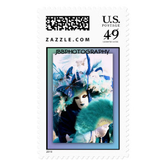carnival feathers stamp