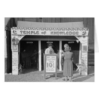 Carnival Fortune Teller, 1938 Card
