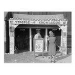 Carnival Fortune Teller, 1938 Postcard