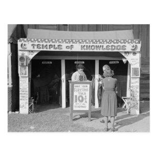 Carnival Fortune Teller, 1938 Postcards
