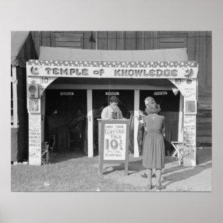 Carnival Fortune Teller, 1938. Vintage Photo Poster