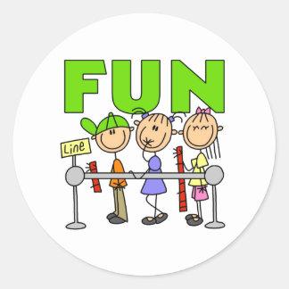 Carnival Fun Classic Round Sticker