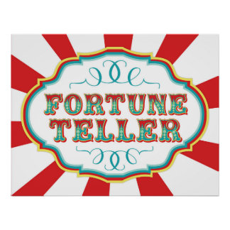 Carnival Game Sign Fortune Teller