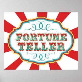 Carnival Game Sign Fortune Teller Poster
