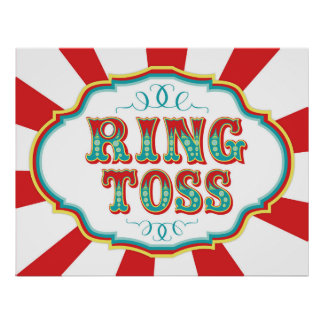 Carnival Game Sign Ring Toss