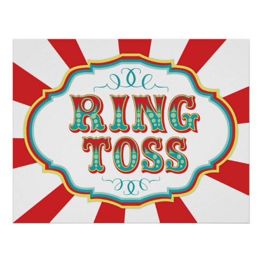 Carnival Game Sign Ring Toss Zazzle Com
