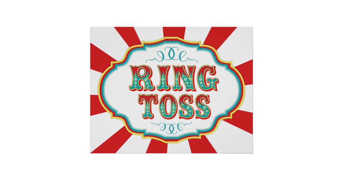 Carnival Game Sign Ring Toss Poster Zazzle