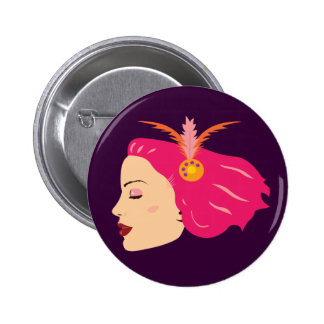 Carnival Girl 2 Inch Round Button