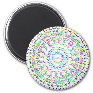 Carnival Glass Medallion Round Magnets