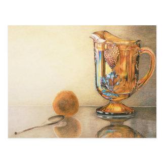 Carnival Glass Pitcher Art Postcard