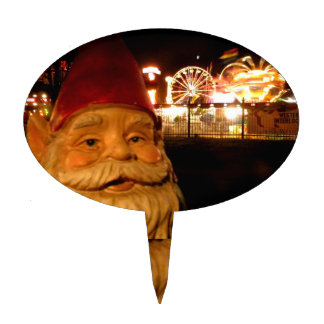 Carnival Gnome Cake Topper