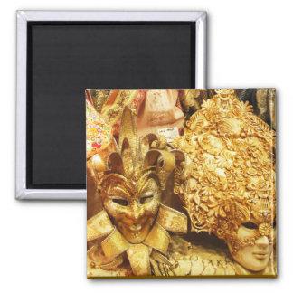 Carnival Gold Jester Mask Mardi Gras Refrigerator Magnets
