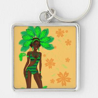 carnival green girl.ai keychain