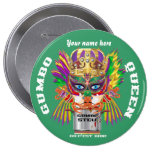Carnival Gumbo Queen View Hints please Pinback Buttons