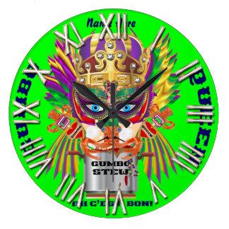 Carnival Gumbo Queen View Hints please Clock