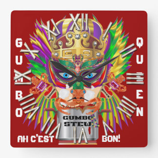 Carnival Gumbo Queen View Hints please Square Wallclock