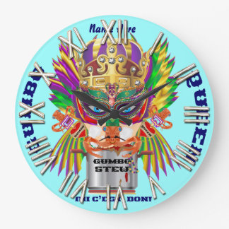 Carnival Gumbo Queen View Hints please Wall Clocks