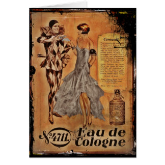Carnival Harlequin and Flapper (cologne) Card