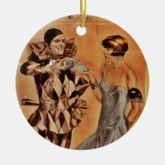Carnival Harlequin and Flapper (cologne) Christmas Ornament