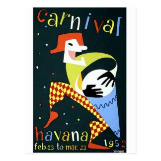 Carnival Havana Cuba Vintage Holiday Travel Postcard