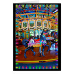 Carnival Horse in Black Greeting Card