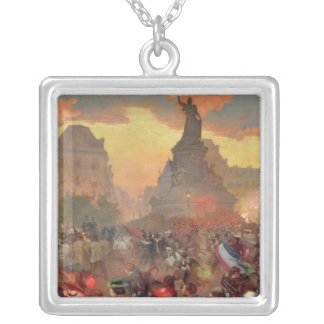 Carnival in Paris in Honour of the Russian Silver Plated Necklace