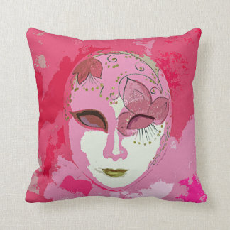 Carnival in Pink Throw Pillow