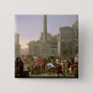 Carnival in Rome, c.1650-51 Pinback Button
