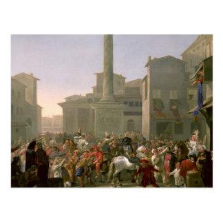 Carnival in Rome, c.1650-51 Postcard