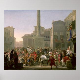 Carnival in Rome, c.1650-51 Poster