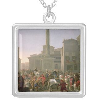 Carnival in Rome, c.1650-51 Silver Plated Necklace