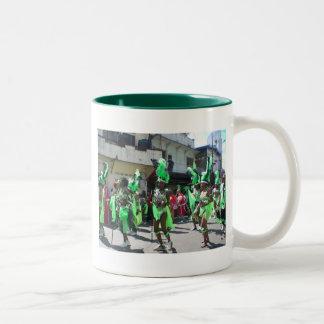 Carnival in San Fernando Trinidad Two-Tone Coffee Mug