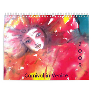Carnival in Venice 2009 Wall Calendar