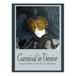 Carnival in Venice Postcard