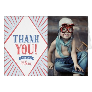 Carnival Kids Photo Thank You Folded Card